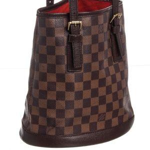 Louis Vuitton Damier Ebene Bucket Marais Bag